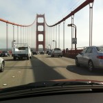 My first time driving across the Golden Gate Bridge.
